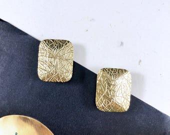 Vintage 60s Hattie Carnegie Gold Art Earrings