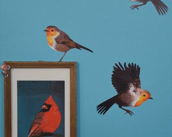 Wall sticker with Robin and Ladybugs
