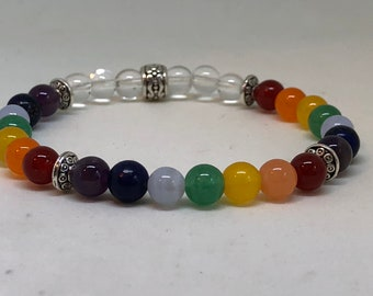 Chakra bracelet * Stretch bracelet * Genuine gemstone bracelet * healing bracelet * Yoga bracelet