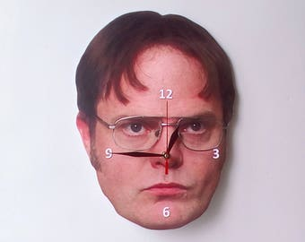 Dwight Schrute wall clock, wall clock, The Office clock, Unique wall clock, the office tv show, Home and Living