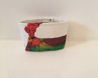 Volcano Coffee Sleeve / Cozy/ Kona Coffee Sack
