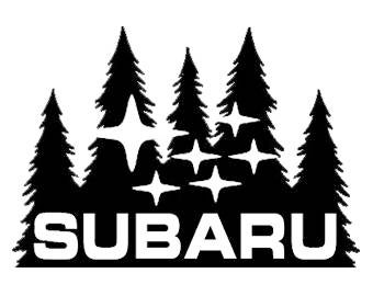 Subaru Pine Trees and Stars
