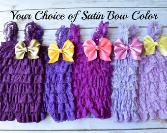 Purple Romper, Cake Smash Outfit Girl, Smash Cake Outfit Girl,  Baby Girl 1st Birthday Outfit, Newborn Romper, Baby Romper, Toddler Romper