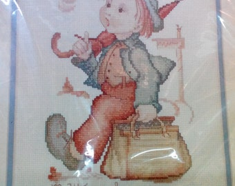Kit-The Merry Wanderer, Hummel, #04600, 8 x 10 inch Finished Size, Counted Cross Stitch, Needle Treasures by JCA Inc.