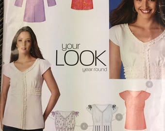 Sewing Pattern New Look 6869 Misses' Tops size 6-16, bust 30-38 inches Uncut