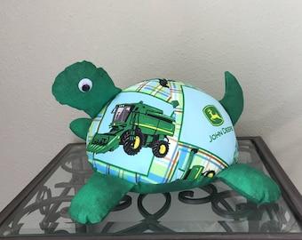 John Deere Handmade Stuffed Turtle