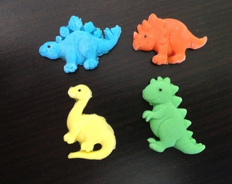 12 Dinosaurs cupcake edible fondant sugarpaste toppers cake decorations