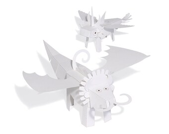 Muuoinc! Paper Toys - DIY Paper Craft Kit - 3D Model Paper Figures to Paint and Play