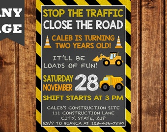 Truck Birthday Invitation, Dump Truck Birthday Invitation, Construction Birthday Invitation, Construction Party, Construction Birthday