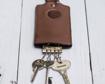 Leather & Felt Key Holder