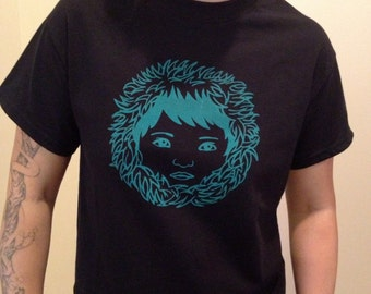 Cutie T-shirt in Black/Turquoise