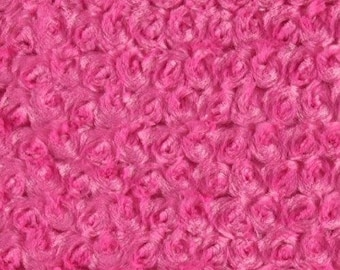 MINKY Cuddle ROSEBUD pink floral roses in relief