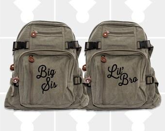 Girls Backpack, Big Sister, Little Brother, Diaper Bag Backpack, Backpacks, Small Backpack, Boys Backpack, Kids Backpack, Big Sister Gift