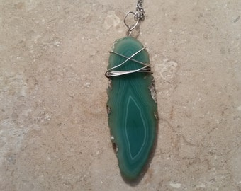 Wire Wrapped Agate Slice