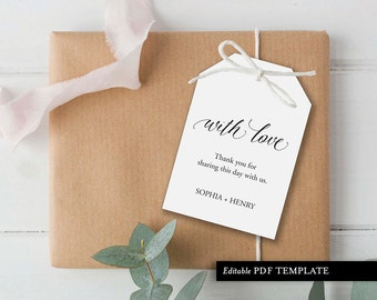 Wedding Welcome Tag Template | Welcome Gift Tag Template | Gift Tag | Favor Gift Tag | Wedding Gift Tag | Instant Download | PDF Template