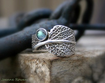 Sage and Labradorite...Engagement Ring, Wedding Band, Promise Ring