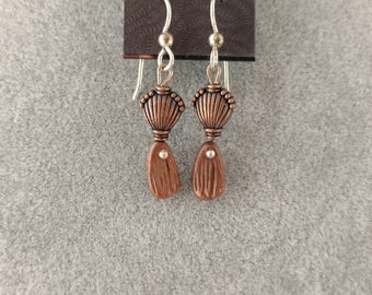Copper/Sterling Silver Earrings