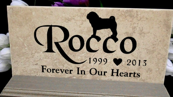 PUG Memorial Grave Marker- Maintenance free 12x6""