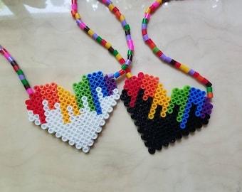 Heart Perler Necklace