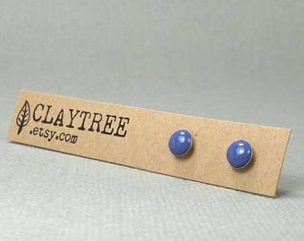 PERIWINKLE Stud Earrings - Soft Purple Studs -Hypoallergenic - Surgical Steel - Tiny Post Earrings - 4mm 5mm 6mm - Cute Earrings