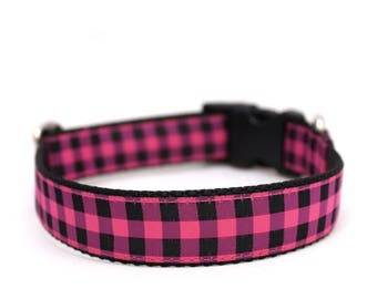 "1"" Flannel Shirt buckle or martingale dog collar"