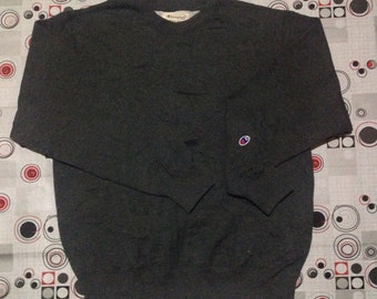 Champion Plain Sweatshirt / small logo / plain clothes / Medium