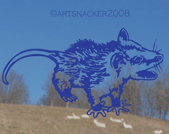 ANGRY POSSUM DECAL 4x7 inch
