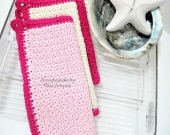 WASHCLOTH - 100% COTTON, handmade washcloth, facecloth, crochet washcloth