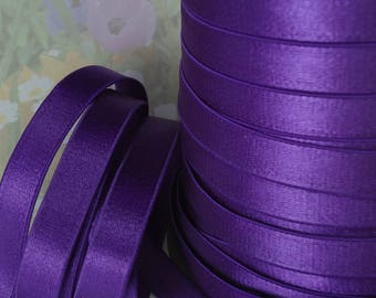 3yds Elastic Satin 1/2 inch Trim Shiny Purple Stretch Bra Strap Elastic diy Headband garter Lingerie bra making sewing supplies ps1/2