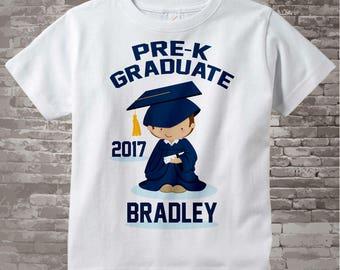 Boy's Personalized Pre-Kindergarten Pre-K Graduate Shirt Graduation Shirt Child's Back To School Shirt 02282014e