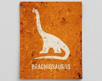 Brachiosaurus Poster Dinosaur Nursery Print Science Poster Baby Geekery Dino Gifts for Teachers Typographic Print Cute Nursery Decor Prints