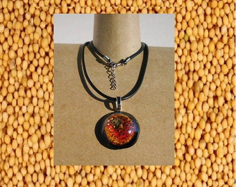 Glitter Mustard Seed necklace