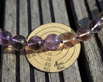 Natural Ametrine quartz (Brazil) 10-16mm graduate round beads (ETB00720)