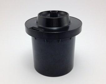 Vintage Plastic Container For 120 Film Development Made in USSR - film camera, lomo, photo accessories, film tank, soviet film accessories