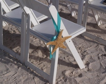 Beach Wedding Starfish Chair Decorations /Starfish Chair Decorations/Aisleway Hanging Starfish Decor/Beach Wedding Decorations