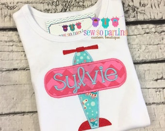 Airplane Baby Girl Outfit - Personalized Baby Girl outfit - baby girl Plane Shirt - Airplane shirt - Plane shirt Girl - Baby girl clothes