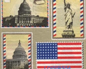The Capitol United States - 33 cm x 33 cm paper towel