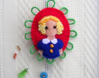 Goldilocks Fairytale Felt Brooch