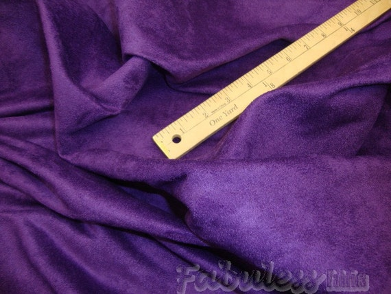 60 wide purple polyester micro faux suede upholstery. Black Bedroom Furniture Sets. Home Design Ideas