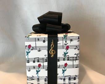 Phantom of the Opera Music box wrapped as a gift