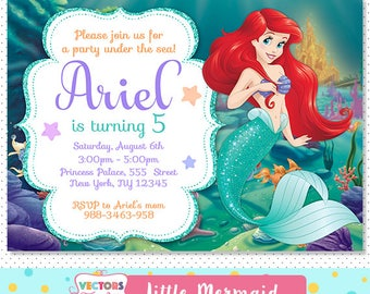 Mermaid Invitation Little Mermaid Invitation Mermaid