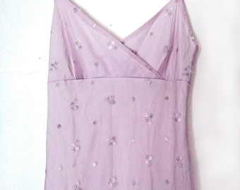 Necessary Objects Ethereal Light Mauve Dress  Small