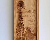 Farm Windmill with Old Ba...