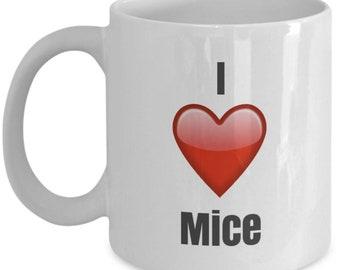 I Love Mice, Mice Mug, Mice Coffee Mug, Mice Gifts, Mice Lover Gift, Funny Coffee mug
