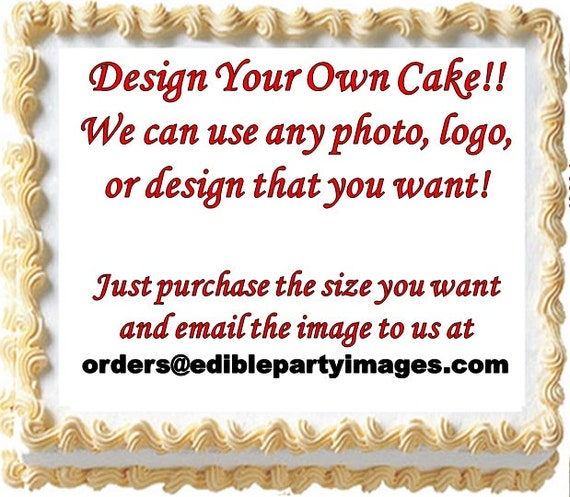 Design your own edible cake topper image do it yourself cake solutioingenieria Images