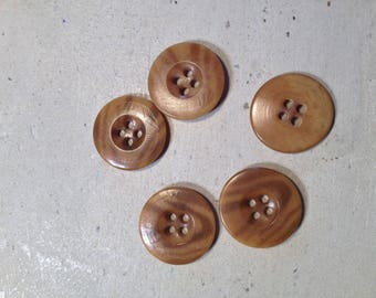 Brown buttons set