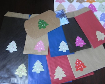 Christmas COLLECTION: set of 25 packages + 25 stickers