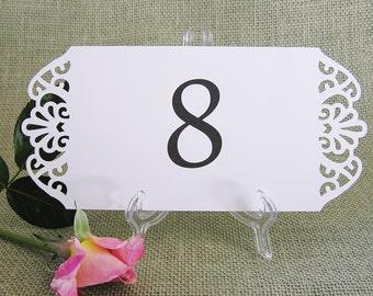 10 Printed Table Number Cards Wedding  Elegant Flourish Design