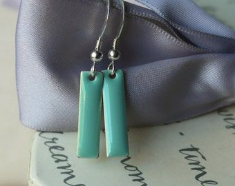 Enameled drop earrings in 7 color choices