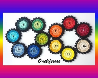 SALE*** Crochet Flower 21 Piece  100 %Cotton ***SALE